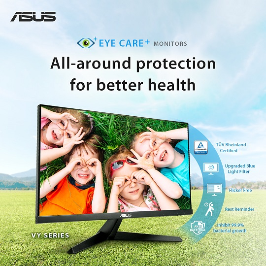 ASUS anuncia los monitores Eye Care VY249HE y VY279HE | Karlos Perú